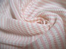 "COTTON WAFFLE KNIT~TINY PINK AND WHITE STRIPES~12""x26""~DOLL SWEATERS~THERMALS"