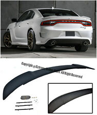 For 11-Up Dodge Charger Hellcat Style ABS Plastic Rear Trunk Lip Wing Spoiler