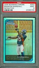 2006 Bowman Chrome Refractor Brandon Marshall #253 PSA 9 Rookie Bears