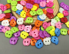 100pcs Resin Apple shape Sewing buttons Mixed color Scrapbooking craft 13mm
