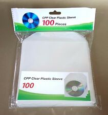 500 CD DVD CPP Clear Plastic Sleeve with Flap Envelopes 100micron PRIORITY MAIL