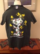 """Peanuts  Snoopy and Woodstock """"Friends Brighten the Holiday Season"""" T-shirt  M"""
