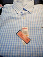 Vineyard Vines Men's Whale Shirt Jake Blue  Gingham Seascape Check  Sz Small NWT