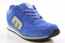 New ETNIES Boys Lo-Cut II LS Shoes Kids Size 2 Blue/Gray/Lime Green Suede DR1