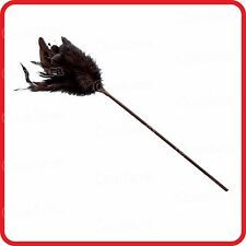 BLACK FEATHER TICKLE AND WHIP-HENS BUCKS NIGHT-PARTY-COSTUME-FUN-GAME-ROMANCE