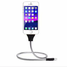 Flexible Lightning Stand up USB Charging Sync Data Cable Holder For iPhone 6 7S
