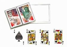 "Gemaco ""Spirit of America"" PLAYING CARDS SET Bridge Poker Game Solitare w/Case"