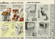Publicité Advertising 1967 (Double page)  MOULINEX robot aspirateur batteur