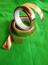 Copper Foil Tape 25mm for Tiffany stained glass work 1M lengths