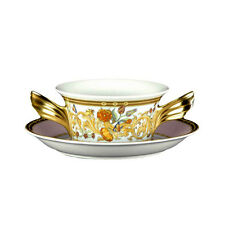 """VERSACE  BY ROSENTHAL ,GERMANY  """"BUTTERFLY GARDEN""""  CREAM SOUP CUP"""
