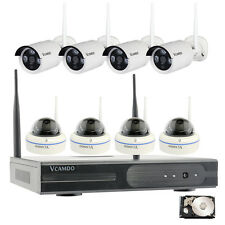 8CH 8 Wireless Cameras CCTV Home Surveillance Security System 1TB Hard Drive