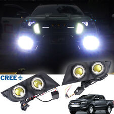 2015+ Fit Ford Ranger T6 FaceLift Matt Black Cover Super LED Fog Lamp Spot Light