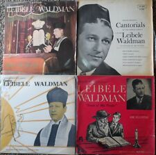 4 jewish cantorial yiddish LP lot-cantor leibale waldman-songs of my people