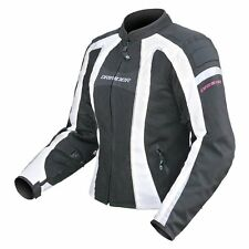 S Small Dririder Womens Airstream Jacket Summer Vented Mesh Motorbike White $249
