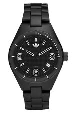 New Adidas Mini Cambridge Black Acrylic Band Date Women Watch 35mm ADH2503 $95