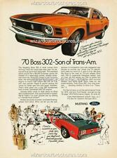 1970 FORD MUSTANG BOSS 302 A3 POSTER AD SALES BROCHURE MINT