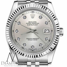 31mm Rolex Datejust Silver color dial with diamond Stainless Steel Womens watch