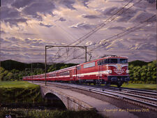 """Le Capitole""  Original Painting of the SNCF & MARKLIN French Train.  Fantastic!"