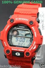 G-7900A-4D Red Casio Men's Watch G-Shock Mineral Glass Digital 200m Resin Band