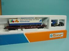 Roco AC 48017 Tiefladewagen Sdkms 707 + Sattelauflieger der DB /TOP+OVP