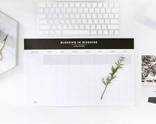 Desktop Weekly Planner Pad Undated Calendar Desk Pad Organizer Schedule Agenda
