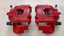 Bremssättel VW Polo 86C mit Halter Bremsanlage vorne Bremse rot lackiert
