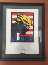 Lance Armstrong Autographed Limited Edition Serigraph Michael Schwab LAF Giro