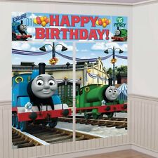 THOMAS THE TANK ENGINE BIRTHDAY PARTY GIANT SCENE SETTER WALL DECORATION