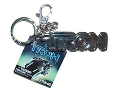 Tron legacy Pewter Keyring - Logo Light Cycle Disney 2010 key fob chain