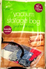 LARGE Lavender Scented Vacuum Vac Bag Compressed Storage Space Saver Bag 80x100