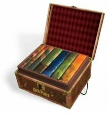 Harry Potter Boxed Hardcover Books Part 1-7 in Collectible Trunk-Like Box