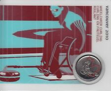 2007 25-cent Olympic Canada Coin Card - Wheelchair Culrling - Petro Canada