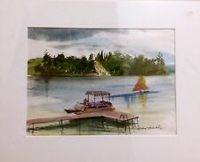 RARE ORIGINAL ART SIGNED BY THE LATE MILLARD WELLS FLORIDA WATERCOLOR
