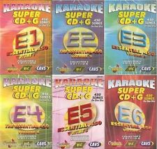 Cavs Chartbuster Karaoke Essentials 450 Volumes 1 to 6, 2700 Songs Also in MP3+G