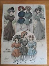 gravure mode - 1910 - La mode Parisienne - atelier Bachwitz 1
