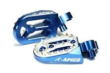 Apico PRO-BITE Foot Pegs YAMAHA YZ250F YZ450F  01-13 Footrests BLUE