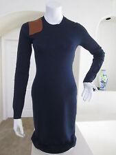 Ralph lauren merino wool long sleeve Knee length Career dress City navy L $180
