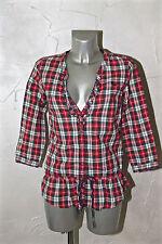 jolie chemise tunique westen à carreaux pour femme ABERCROMBIE & FITCH taille S