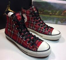 Converse Chuck Taylor All Star Hi Shoes Tartan Plaid Kilt Men's Sz 6.5 Wo's