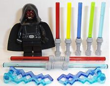 Lego Darth Maul in Star Wars Robes 2 Lightning 7 Lightsabers Lego Custom MiniFig