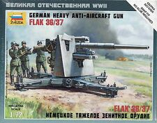 Zvezda 1/72 Figures German Heavy Anti Aircraft Gun Flak 36/37 Z6158