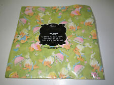 VINTAGE GIBSON RETRO GIRL BABY SHOWER GIFT WRAP PAPER PACK 2 SHEETS new sealed