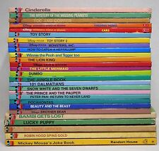 LOT of 27 Disney's Wonderful World Of Reading Books Hardcover - Includes Vintage