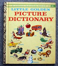 1959 LITTLE GOLDEN BOOK PICTURE DICTIONARY Nancy Fielding Hulick TIBOR GERGELY