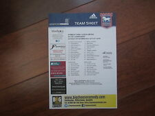 2014-15  CHAMPIONSHIP  IPSWICH TOWN v  LEEDS UNITED  OFFICIAL    TEAM SHEET