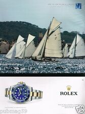 Publicité advertising 2012 La Montre Rolex Oyster pepetual Submariner Date