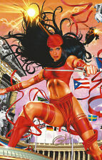 Greg Horn SIGNED Daredevil Netflix Marvel Comic Art Print  ~ Elektra