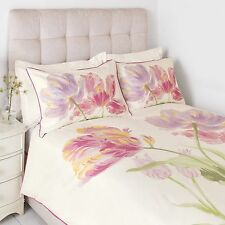 bnwt LAURA ASHLEY DUVET COVER SET KING 2 PILLOWCASES GOSFORD BLOOM CYCLAMEN