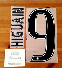 2016-17 Juventus Home Shirt HIGUAIN#9 OFFICIAL DekoGraphics Name Number Set