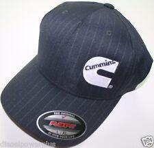 Cummins hat ball cap fitted flex fit flexfit stretch cummings gray black lg/xl